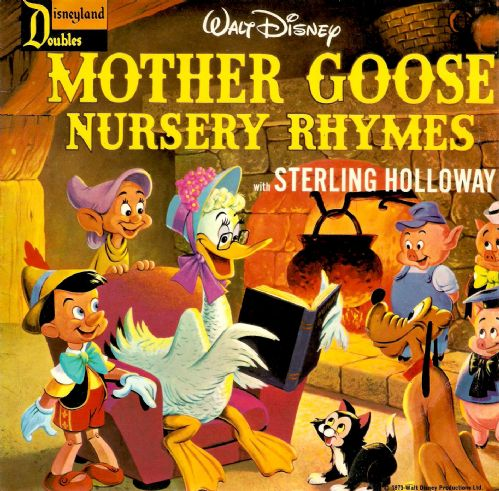 STERLING HOLLOWAY Mother Goose Nursery Rhymes Vinyl Record 7 Inch Disneyland Doubles 1973